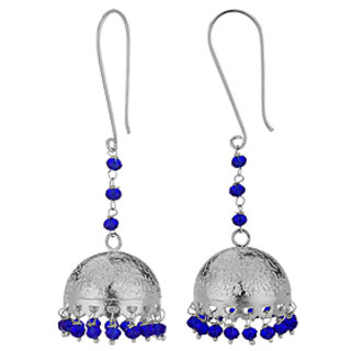 Voylla Jhumki Earring Pair With Blue Color Beads