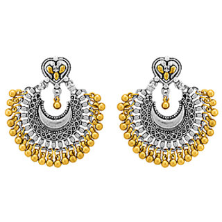 Voylla Dual Plated Chandbali Earrings