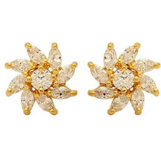 Voylla Earrings Festooned With CZ Stones