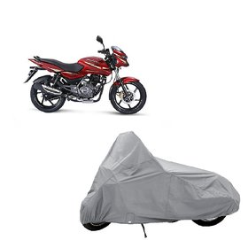 AutoAge Two Wheeler Silver Cover for Bajaj Pulsar 150 DTS-i
