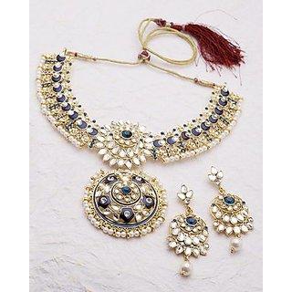 Voylla Sparkling Gems Studded Necklace Set