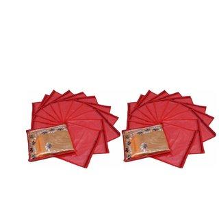 Fashion Bizz Red Saree Cover 24 Pcs Combo In Non Woven Material