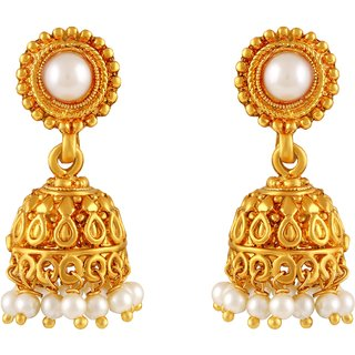 Asmitta Jewellery Gold Plated Gold Zinc Jhumkis For Women