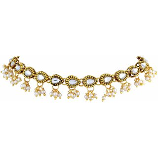 Asmitta Jewellery Gold Plated Gold Zinc Anklets For Women