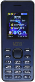 Mtr Mtstar Dual Sim Mobile Phone In Black Color