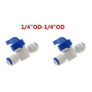 Xisom RO Manual Flush Valve 1/4inch 2 pcs. for RO Water Purifier