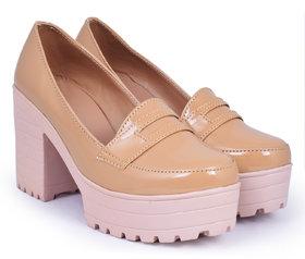 Trendy Look Beige Heels