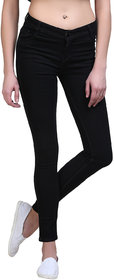 GlobalityCo Skinny Fit Black Ladies Jeans