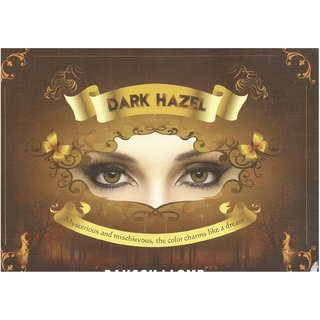 Bausch Lomb Natural Look Colour Contact Lens Dark Hazel 3 Months Disposable Pack Of 2 Pcs 1 Free Lens Case