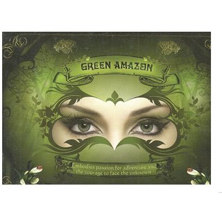 Natural Look colour contact Lens green amazon pack of 2pcs 1 free lens case