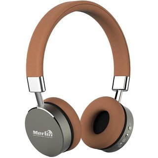 merlin Virtuoso 3D On Ear Wireless Bluetooth Headset with Mic (Brown On the Ear)