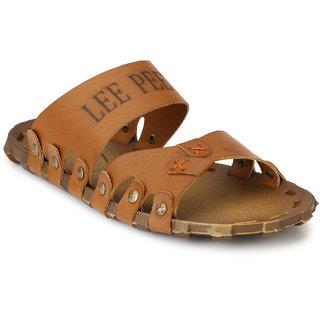 Lee Peeter Men's Tan Outdoor Slippers