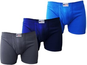 Bull Blue Bird Cotton Assorted Trunk (Pack of 3)
