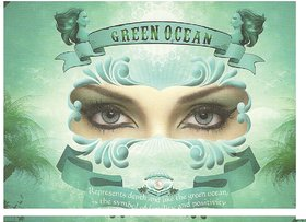 Natural Look colour contact Lens green turquoise 3months disposable pack of 2 pcs  1 free lens case