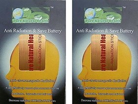 Pack of 2 sticker for mobiles/tablets/laptops/wifi (Gold) - Electro Magnetic Radiation (EMR) neutral