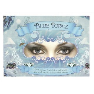 Natural Look colour contact LensBlue topaz plano