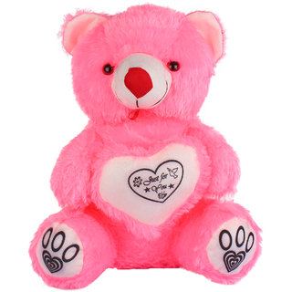 Crazeis  Very Soft Lovable/Huggable Teddy Bear  With Cap for Boy/Girl(66 CM,Pink Color)