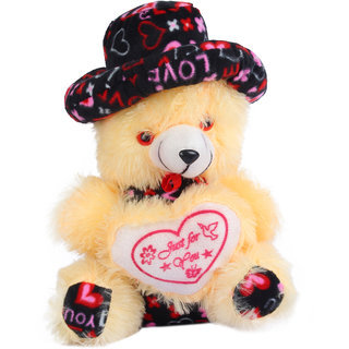 Crazeis  Very Soft Lovable/Huggable Teddy Bear  With Cap for Boy/Girl(32 CM, Beige)  )