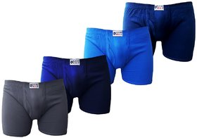 Bull Blue Bird Cotton Assorted Trunk (Pack of 4)