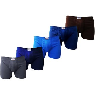 Bull Blue Bird Cotton Assorted Trunk (Pack of 5)