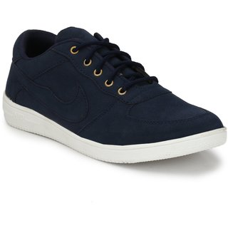 Vinod Shoe Navy Blue Lace Up For Men