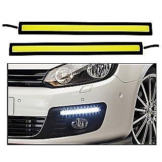 Car Waterproof White Cob LED Fog DRL Daytime Running Light 6000K