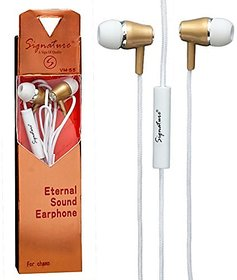 Signature VM-55 Universal Earphone with Mic (Assorted Colors)