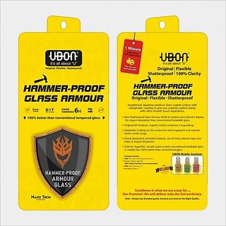 Ubon Hammer Proof Glass Armour For Universal 5.0 Anti-Fingerprint Smooth Glass Guard