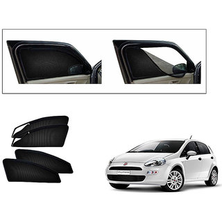Autonity Magnetic Zipper Curtain Car Sunshades Set Of 4-Fiat Punto