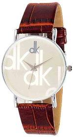 Staylish Watch DK White Slim Dial Watch For Boys Mens