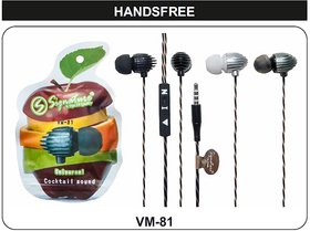 Signature VM-81 Universal In Ear Cocktail Sound Wired Handfree with mic