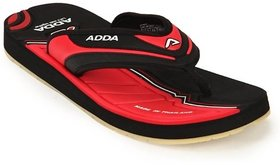 ADDA COMFORTABLE BLACK RED COLOR FLIPFLOPS (02)