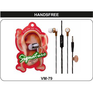 Signature VM-79 Dancing Ear In-Ear wired Headphone Headset with Mic