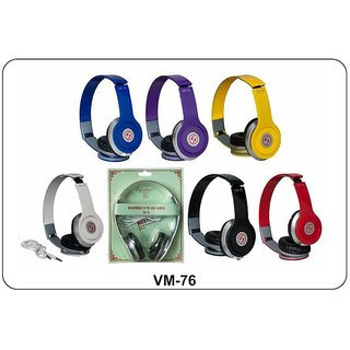 Signature High Quality VM-76 Stereo Bass Solo Headphones