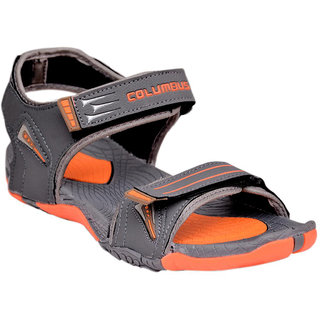 COLUMBUS GREY  COLOR COMFORTABLE SANDALS / FLOATERS (941)