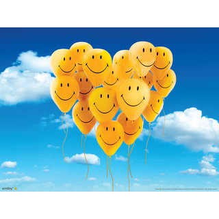Cute Yellow Smiley Balloons Pack of 30 Pcs 12 inches