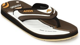 ADDA COMFORTABLE KHAKHI WHITE COLOR FLIPFLOPS (02)
