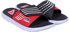 ADDA COMFORTABLE SLIPPERS BLACK RED COLOR FLIPFLOPS (01