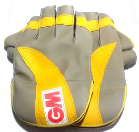 Wicket Keeping Gloves. Leather Gloves for Cricket, Color As per Availability,Size- 28/ 20 cm