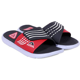 96a6cf0eb0e Buy ADDA COMFORTABLE SLIPPERS BLACK RED COLOR FLIPFLOPS (01) Online ...