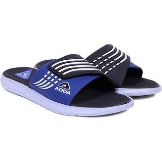 ADDA COMFORTABLESLIPPERS  BLACK BLUE COLOR (01)