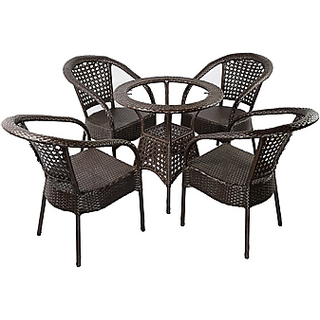 UG Bro Wicker Outdoor Park Chairs/ Coffee Chairs with Canter Table 01