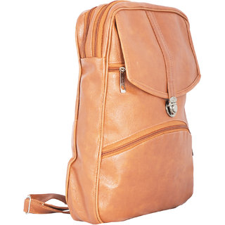 bd1f27e439 Brown Color Stylish Unisex Backpack Casual College Bags Backpacks