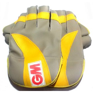 Wicket Keeping Gloves. Leather Gloves for Cricket Color As per Availability Size- 28/ 20 cm