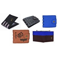 Yuvi Creation Nok Ap Brown 501 WD PVC Wallet Pack of 5