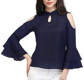 Women Wed Women's Designer Blue Western Wear Tops (XL)