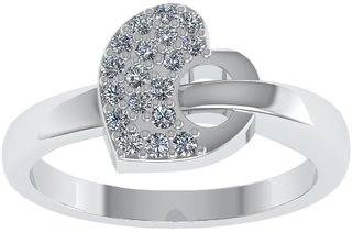 Shreeji Jewellers New 925 Sterling Silver CZ American Diamond Silver Ring For Women And Girls