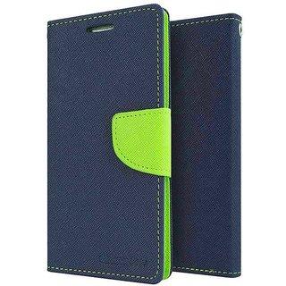 Dairy Wallet Flip Case Cover for Lenovo A1000 - BLUE