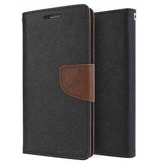 Dairy Wallet Flip Case Cover for Lenovo A1000 - BROWN