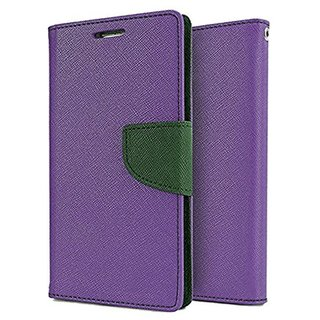 Dairy Wallet Flip Case Cover for Sony Xperia M5 Dual - PURPLE